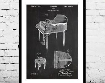 Wurlitzer Butterfly Piano Model 235 Patent, Wurlitzer Piano Poster, Piano Print, Piano Art, Piano Decor, Piano Blueprint p339