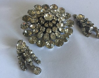 Vintage Coro Brooch and Earrings
