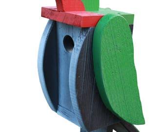 Amish Made Bird House - Hummingbird Shaped House - Free Shipping