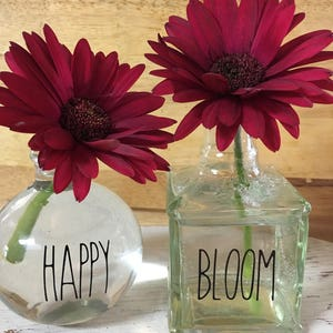 Superior Rae Dunn Inspired Happy U0026 Bloom Vinyl Decals, Rae Dunn Inspired Bud Vase  Decals Nice Design