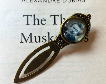 Alexandre Dumas Bookmark, The Three Musketeers Bookmark, Alexandre Dumas Gift, Count of Monte Cristo Book Mark, Dumas Gift, Author Bookmark