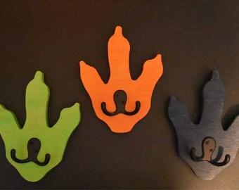 Dinosaur feet coat towel racks Large quanitys 1, 2, or 3 / price per foot / Kids Room Decor Hanging / Towel hooks