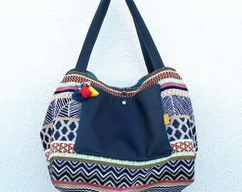 Bag single Amazon jacquard fabric