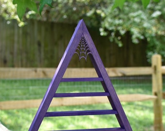 Purple Metallic Crystal Charging Triangle Display Shelf