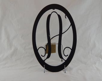 Black Monogram Letter Trivet / Wall Hanging