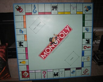 Monopoly - Over sized game board - Giant Board Game Art - Wall Decoration