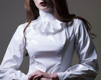 PVC Ruffle Top with Bishop Sleeves-Made to Measure