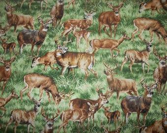 American Wildlife Deer Cotton Fabric #197