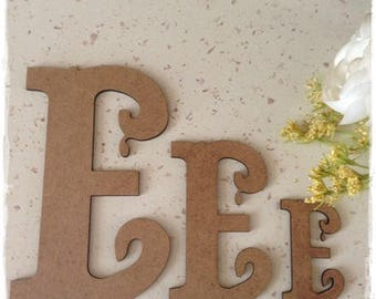 Your choice of letter height 6 cm eps 3mm wooden letter