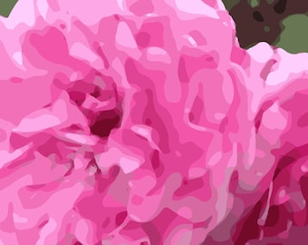 Pink Profusion, Flower Graphic Art Image Digital Download for Wall Art