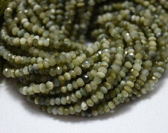 10 Strands, 3.5mm Cat's Eye Beads, Faceted Rondelles Beads, Cat's Eye Rondelles, Gemstone beads 13.5 Inch