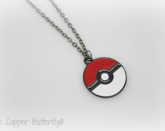 Pokemon Pokeball Charm Necklace - Ash Ketchum - Pikachu - Amine - Cosplay - The Copper Butterfly - 6140310