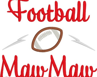 Football MawMaw Embroidery Design