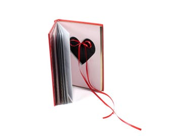 """Ring Holder Book Box Handmade Heart Shaped Ring Box Made Out Of Used Book """"The Book Of Love"""" Engagement Proposal Anniversary - READY TO SHIP"""