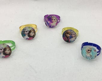 Frozen Rings, Frozen Party Favors, Disney Frozen Rings, Disney Frozen Party Favors