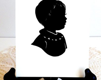 Custom Silhouette Portrait / one 5x7""