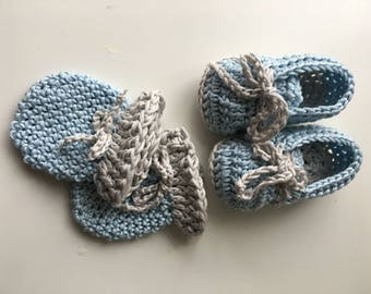 Baby booties, Baby mittens, Handmade baby shoes, Crochet baby shoes, Newborn mittens, Photo prop, Baby shower gift, Baby shoes for boys
