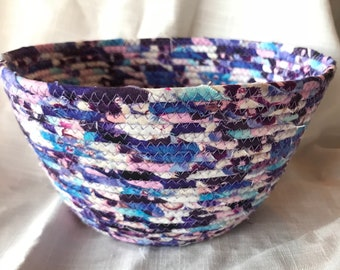 FabricPottery coiled bowl, made in the USA