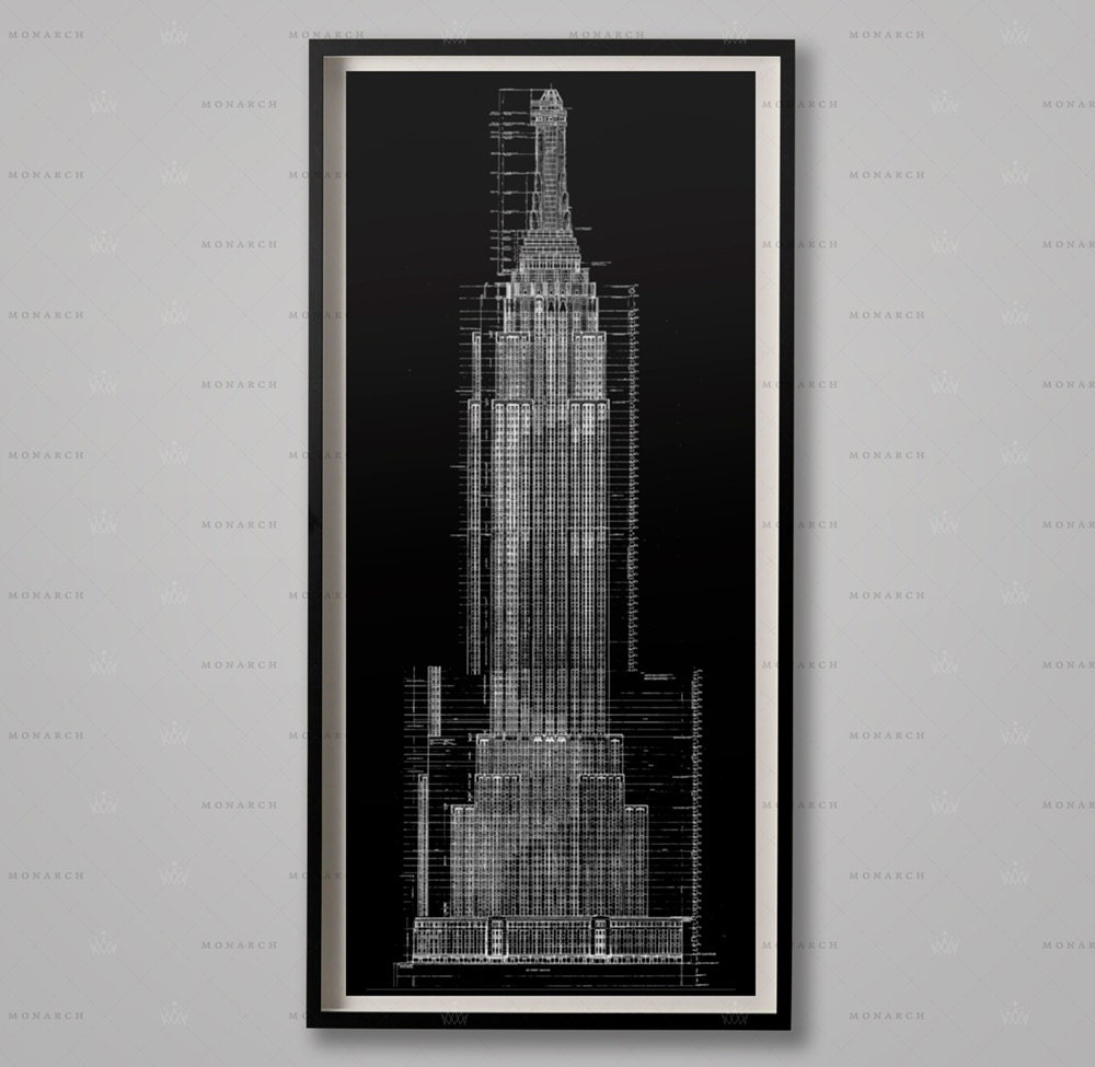 Empire state building blueprints architecture plans zoom malvernweather Image collections
