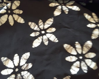 "4 Yards Black Batik Fabric 40"" Wide"