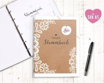 Stammbuch Familienstammbuch Eheurkunde - Sweet Vintage A5