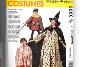 McCall's Child's Costumes Pattern 6680