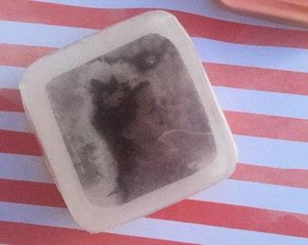 Small Personalized Color Block Photo Soap