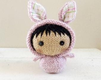 Cute Stuffed Animal, Baby Doll, bunny stuffed animal, ready to ship - Bunny Baby Esther
