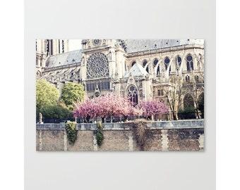 Art de la fleur de cerisier, photographie de Paris, art mural extra-large, art mural Paris, art mural encadré, cadeau de fête des mères, art mural art toile, impression