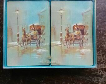 Hallmark Double Deck Playing Cards Gaslight Design