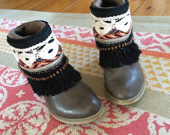 Upcycled Cowboy boots Boho - covers on Bohemian Gypsy boots boots