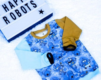 JUMPER 92, 2 years old, t shirt, longsleeves, toddler jumper, kids jumper, toddler clothing, kids clothing, robots, boyjumper, boyclothing