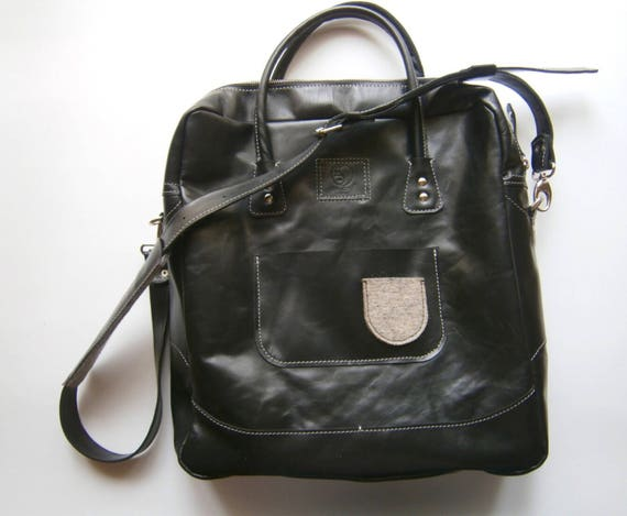 Business Handmade Laptop Bag,Black Laptp bag,Full Grain Leather office Bag,Casual Laptop Bag, Made to order Bag