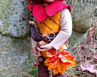 Autumn Woodland Elf Fairy OOAK Doll Costume Fits A Girl For All Time Dolls