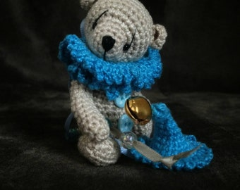 Miniature Thread Crochet Artist Bear