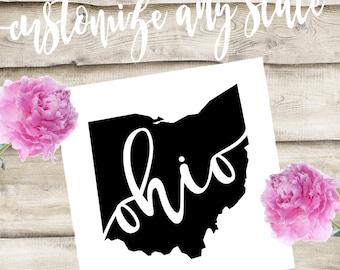 Ohio Custom State Laptop / Phone / Car Decal
