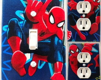 Spiderman Light Switch and Outlet Covers