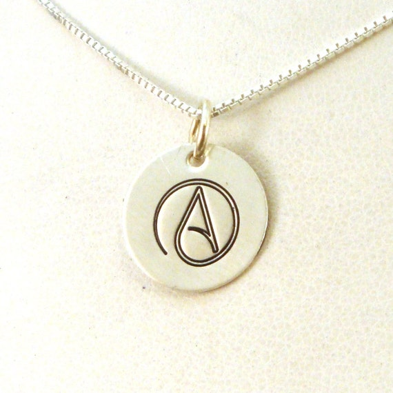 Atheist necklace atheist jewelry atheist a necklace aloadofball Choice Image