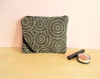Pouch, makeup or other - Golden spiral