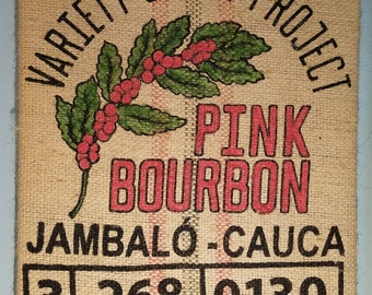 Pink Bourbon (Colombia) Coffee Bag Wall Hanging