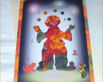 """Carte double """"Clown fleur"""" de Céline Photos Art Nature"""