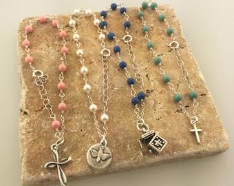 Rosary Bracelet, Prayer beads, Prayer bracelet, Confirmation bracelet, Communion bracelet, Rosaries