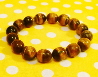 Gemstone Beaded Bracelet featuring Tiger's Eye Beads