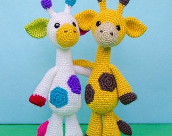 Geri the Giraffe Amigurumi - PDF Crochet Pattern - Instant Download - Amigurumi crochet Cuddy Stuff Plush