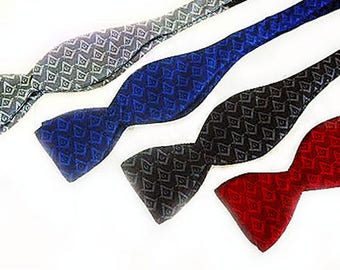MASONIC BOW TIE - Self Tie Bow in Silk Material - Tone on Tone Pattern in 4 Colors