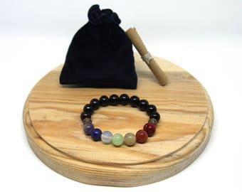 7 chakra bracelet for men 7 chakra beaded bracelet Gemstone Yoga bracelet Chakra stones bracelet Chakra jewelry men Chakra gemstone bracelet