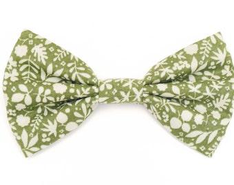 The Laurel Bow Tie —Brooklyn Bowtied, Dog Bowtie, Floral, Flower, Green, Wedding, Dog of Honor, Ring Bearer, Ti, Bowti