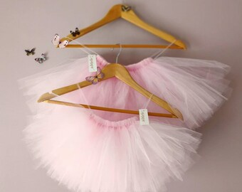 Baby Girl Tutus, Tulle Skirt, Cream, Pink, Grey, Custom Colour. Short Baby Tutus, Baby Ballet Tutu UK, Toddler Flower Girl Tutu Skirts