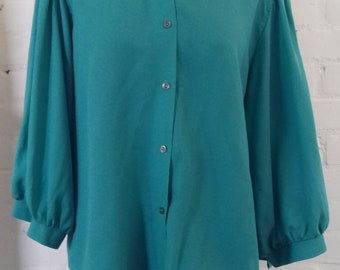 Turquoise blouse from the 70's - M/L