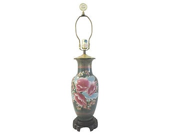 Asian Cherry Blossom Table Lamp
